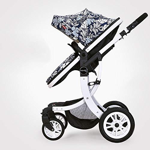 Gaoyy passeggino travel system 3 in 1 buggy carrozzina passeggino per bambini retromarcia o avanti rivestimento antipioggia zanzariera pieghevole (pieghevole: 39.3 * 23.6 * 17.7ihch),linencloth-4