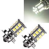 GBESTE 2X P26S LED Lampadine Auto 24SMD 5050 DC 6V 15W 6500K- Per Porta/Lettura/Soffitto/Interior Lampada LED - Auto Lampadina LED Luce Targa Illuminazione Interna Bianco Canbus No Error
