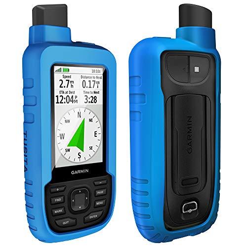 TUSITA Hülle für Garmin GPSMAP 66s 66st - Silikon Schutzhülle Skin - Handheld GPS Navigator Zubehör (Blau) Handheld-gps