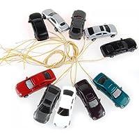 SODIAL (R) 10 piezas pintadas quema modelo luz del coche w cables escala / N (1 a 150) EC150-3