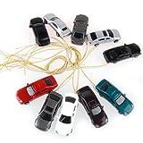 Sonline 10 Stuecke Abfackeln Licht gemalt Modellautos w / Draehte Spur N (1 bis 150) EC150-3