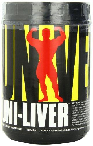 Universal Nutrition, Uni-Liver 30 Grain (500 Tabs) Standard, 1108 g