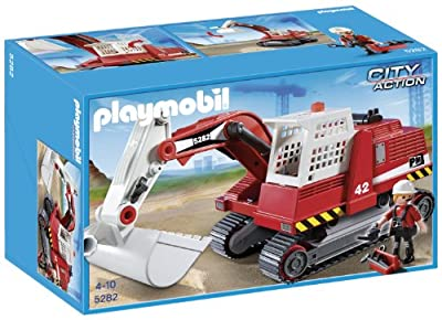 Playmobil City Action - Grúa excavadora de Playmobil