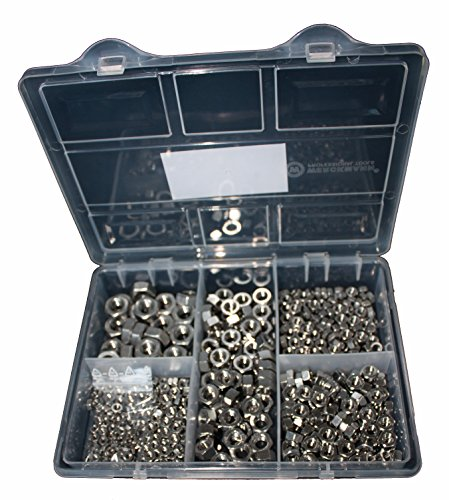 Sortiment Sechskantmuttern DIN 934 Edelstahl 470 Teile M3, M4, M5, M6, M8, M10