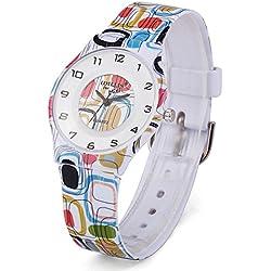 Zeiger a2z014leicht dünn Frauen Mädchen Uhr mit Fashion Weiches Silikon (Pebble)