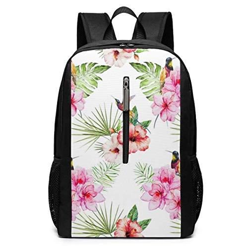 TRFashion Rucksack Tropical Watercolor Laptop Backpack 17 Inches Travel Gym Bag Yoga Bag School Bag Book Bag for Men Women Teenagers (Rucksäcke Ebags Laptop)