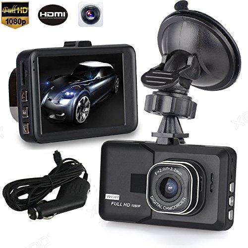 Altsommer 3,0 ″ HD LCD-Bildschirm Autokamera HD 1080P Kamera mit 170° Weitwinkelobjektiv,Parkplatzsensitivität,Auto Kamera mit Echtzeitausgabe,G-Sensor,Geringer Stromverbrauch (A)