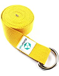 Yogagurt »Madira« / Yoga-Belt Gurt 100% Baumwolle mit stabilem Metall-Ring-Verschluss / 250 x 3,8cm / in verschiedenen Farben erhältlich