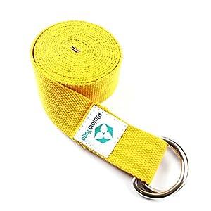 #DoYourYoga Yogagurt »Madira« / Yoga-Belt Gurt 100% Baumwolle mit stabilem Metall-Ring-Verschluss / 250 x 3,8cm erhältlich