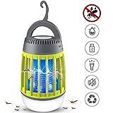 Dkinghome 2 Lampe Abeilles Camping Lanterne Lumière Tueur de Extrérieur Piège Répulsif LED Portable Electrique USB Rechargeable 3 en 1-Vert