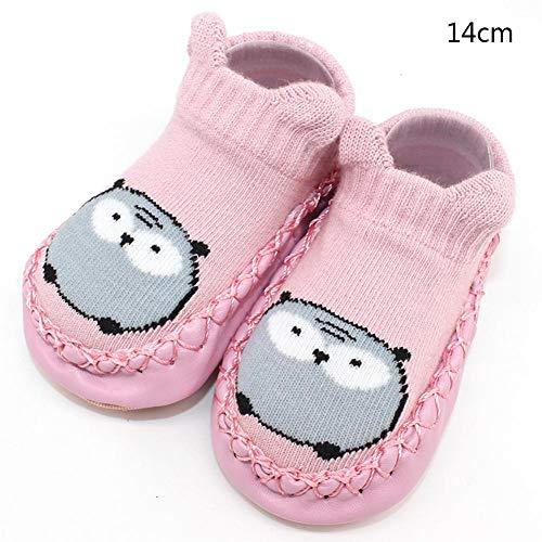 DRAULIC Baumwolle Boden Socken Kinder Cartoon Socken rutschfeste Baby Kleinkind Schuhe mit Leder Weiche Sohle Schuhe für Indoor Frühkindliche Baby