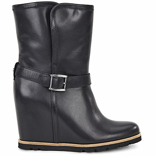 Ugg Australia Women's Ellecia Women's Leather Boots In Black 100% Leather Black