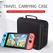 Eookall Travel Carrying Case Compatible with Nintendo Switch System EVA Hard Shell Handbag for Nintendo Switch