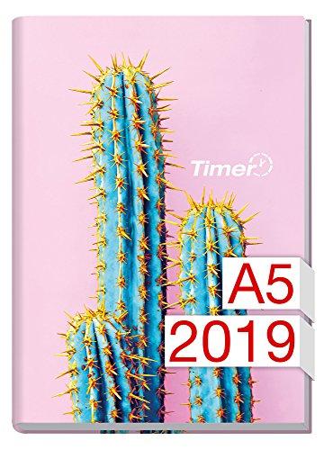 Chäff-Timer Classic A5 Kalender 2019 [Kaktus] 12 Monate Jan-Dez 2019 - Terminkalender mit Wochenplaner - Organizer - Wochenkalender