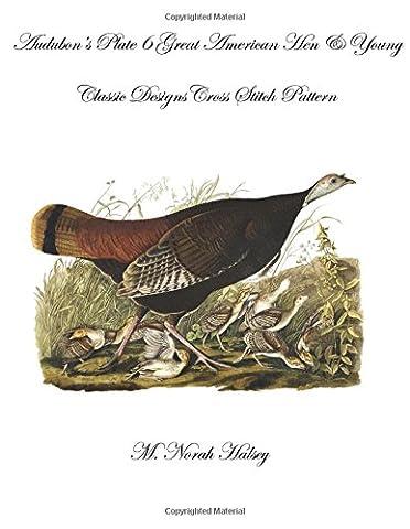 Audubon's Plate 6 Great American Hen & Young: Classic Designs Cross Stitch Pattern