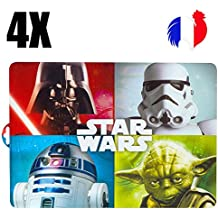 4manteles individuales de mesa Star Wars, Set de mesa original, la guerra de las estrellas, Set de mesa infantil, Geek, rígida, plástico, PVC, salvamanteles de