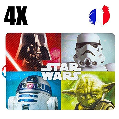 4manteles individuales de mesa Star Wars, Set de mesa original, la guerra...