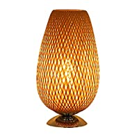 LSXLSD Minimalist Bedside Lamp Study Desk Lamp Hotel Customer Bamboo Lighting Fixtures Creative Lighting