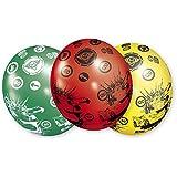 Amscan RM450257 - Juego de globos medianos para fiestas con diseño de Cars 2 (látex, 5 unidades)