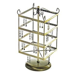 Azar 300634 Hanging Earring Carousel Display, Gold