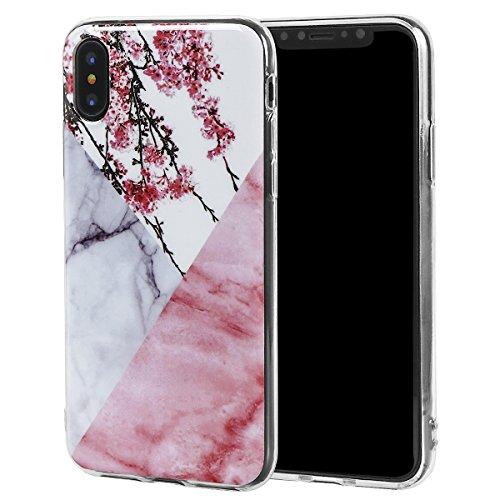 xhorizon Couvercle Housse en TPU Souple Flexible Marbre Pierre Motif Séries Protéger Contre Rayure Doigt Léger Convenable pour iPhone X / iPhone 10 #9