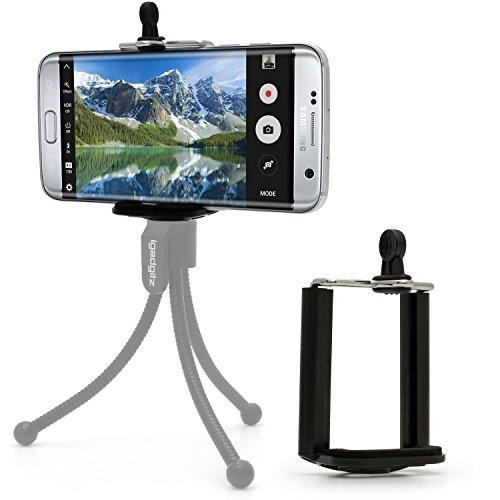 igadgitz Smartphone Handy Halter Halterung Stativadapter Clip für Stativ & Selfie Stange Stick