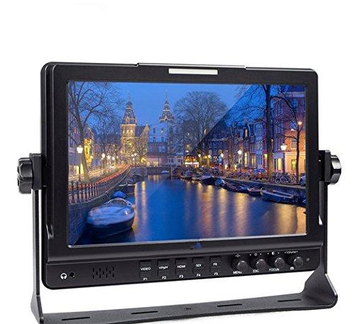 Gowe 25,7cm HD 1280* 800Video Monitor IPS LCD Bildschirm HDMI 3G-SDI YPbPr 178View Winkel für DSLR Kamera Camcorder -