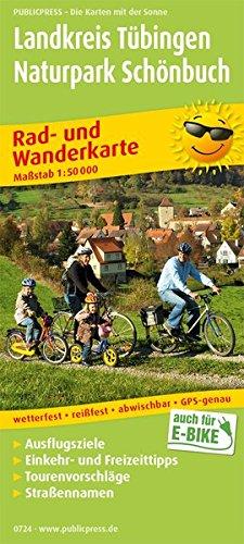 Landkreis Tübingen - Naturpark Schönbuch: Rad- und Wanderkarte mit Ausflugszielen, Einkehr- & Freizeittipps, Tourenvoschlägen und Straßennamen, ... 1:50000 (Rad- und Wanderkarte / RuWK)
