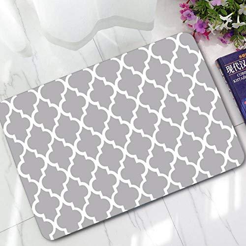 en Teppich Geometrie gedruckt schwarz und weiß einfaches Bad wasserdicht rutschfeste Matten Bereich Teppich für Wohnzimmer 40x60cm, 60x90cm ()