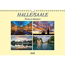 Halle/Saale - Wenn es dämmert (Wandkalender 2018 DIN A4 quer): Halle/Saale im Licht der Dämmerung (Monatskalender, 14 Seiten ) (CALVENDO Orte) [Kalender] [Nov 10, 2013] Wasilewski, Martin