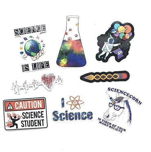 YLGG Trend Roman wissenschaftlichen Laborraum Aufkleber für Gepäck Laptop Kunst Malerei DIY Poster Aufkleber Skate Spielzeug 50 Stück
