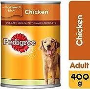 Pedigree Chicken Loaf, Wet Dog Food, Can, 24 x 400g
