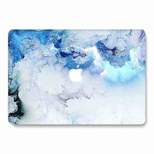 AQYLQ MacBook Schutzhülle/Hard Case Cover Laptop Hülle [Für MacBook 12 Zoll Retina Modell A1534], Plastik Matt Hartschale Schutzhülle, 778 blau und weiß