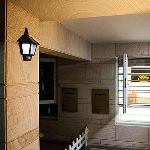 Solar Power LED Chemin PIR Motion Sensor Light Wall Outdoor Landscape Garden Lamp
