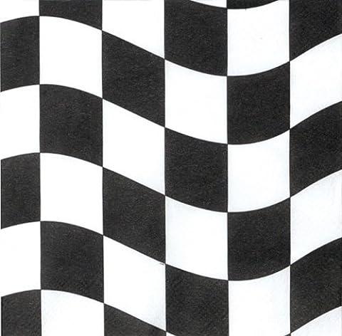 Creative Conversion 18fils Serviettes en papier, Noir et Blanc à carreaux