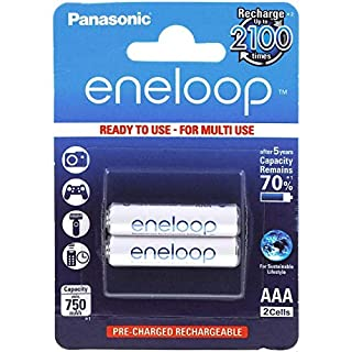 Original Panasonic eneloop Akku AAA 2er-Blister (BK-4MCCE/2BE), NiMH, 2x 1,2V