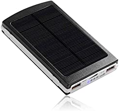 FABDY SPB-12 Solar Power Bank 20,000 MAH, (Black)