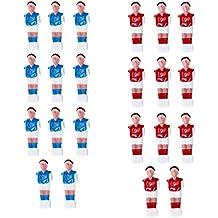 Gazechimp 22 Piezas Futbolín Hombre Mesa Fútbol Hombre Jugador Reemplazo Rojo + Azul
