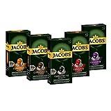 Jacobs Kapseln Vielfaltspaket - 50 Nespresso (R) * kompatible Kaffeekapseln aus Aluminium - alle 5 Sorten (5 x 10 Kapseln)