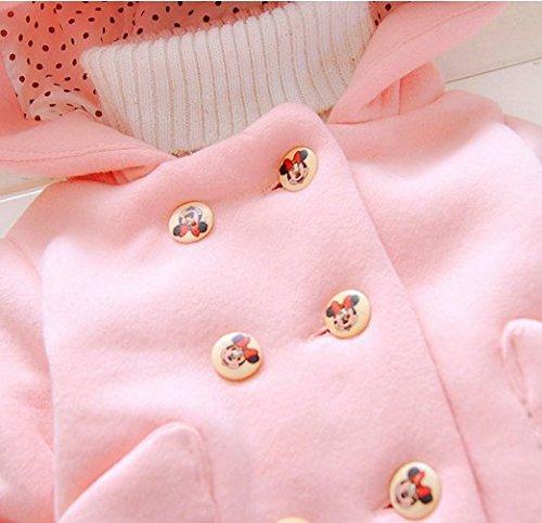 Ohmais Unisex Jungen Mädchen Winter Down Jacket verdickte Winterjacke Jungen Mantel verdickte Trenchcoat Jungen Outerwear Pink