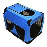 DEMA Hundebox Katzenbox XL blau 81x58x58cm faltbar