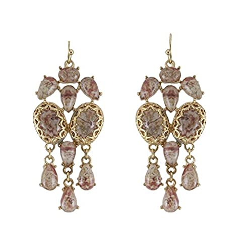 Europe and the wind Palace retro textured Earring/Natural grain complex dramatic drops flow Su Er