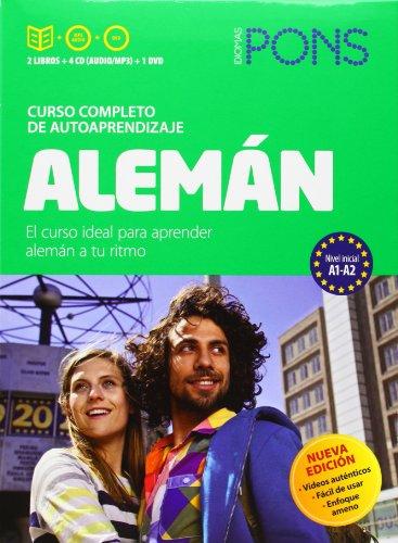Curso Pons Alemán. 2 libros + 4 CD + DVD (Pons- Curso Autoaprendizaje)