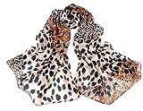 Damen Schal Herbstschal Rundschal in braun (Leopardenmuster) Mädchenschal Accessoire Halstuch