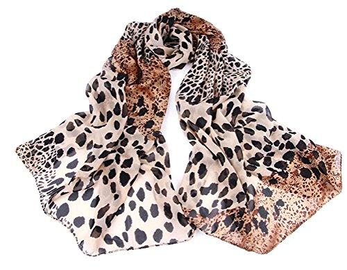Damen Schal Herbstschal Rundschal in braun (Leopardenmuster) von der Marke Mybeautyworld24