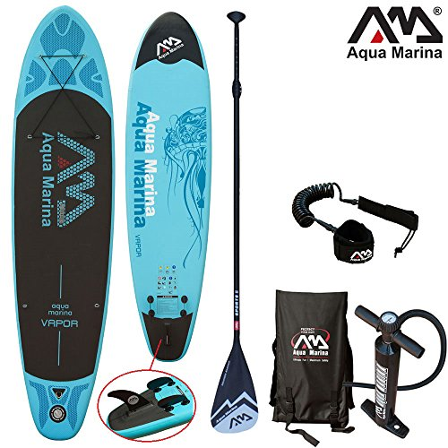 "Aqua Marina VAPOR 10'10"" Combo 2 / Stand Up Paddelboard inkl. Pumpe, Finne, Paddel, Tragetasche & SUP Leine"