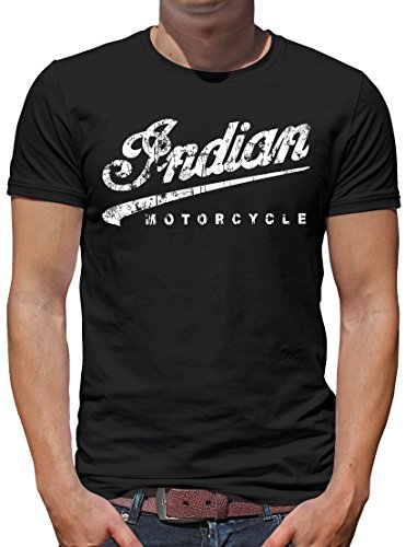 TShirt-People Indian Motorcycle T-Shirt Herren L Schwarz - Indian Motorcycle T-shirt