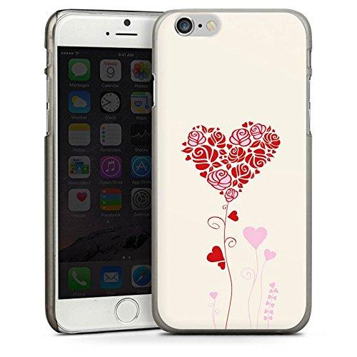 Apple iPhone 4 Housse Étui Silicone Coque Protection Motif Motif Roses c½ur CasDur anthracite clair