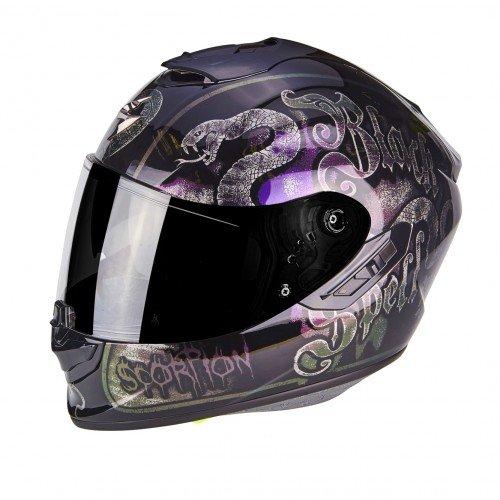 Scorpion casco moto exo-1400 air blackspell chameleon nero s