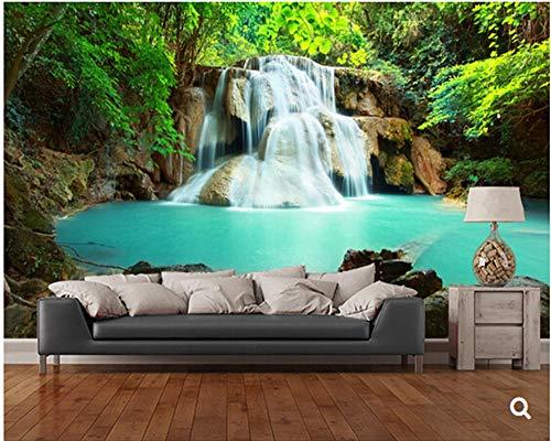 Sucsaistat Naturlandschaft Tapete, Huay Mae Kamin Wasserfall, Thailand, 3D Fototapete Für Wohnzimmer Schlafzimmer Sofa Wandtapete,200 * 140Cm (Wasserfall Kamin Und)